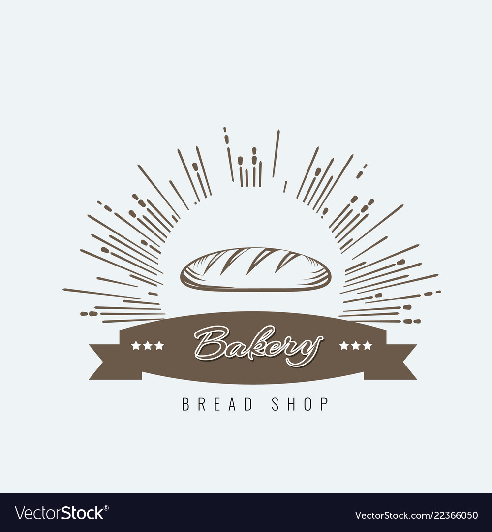 Vintage hand drawn sketch style fresh bread for