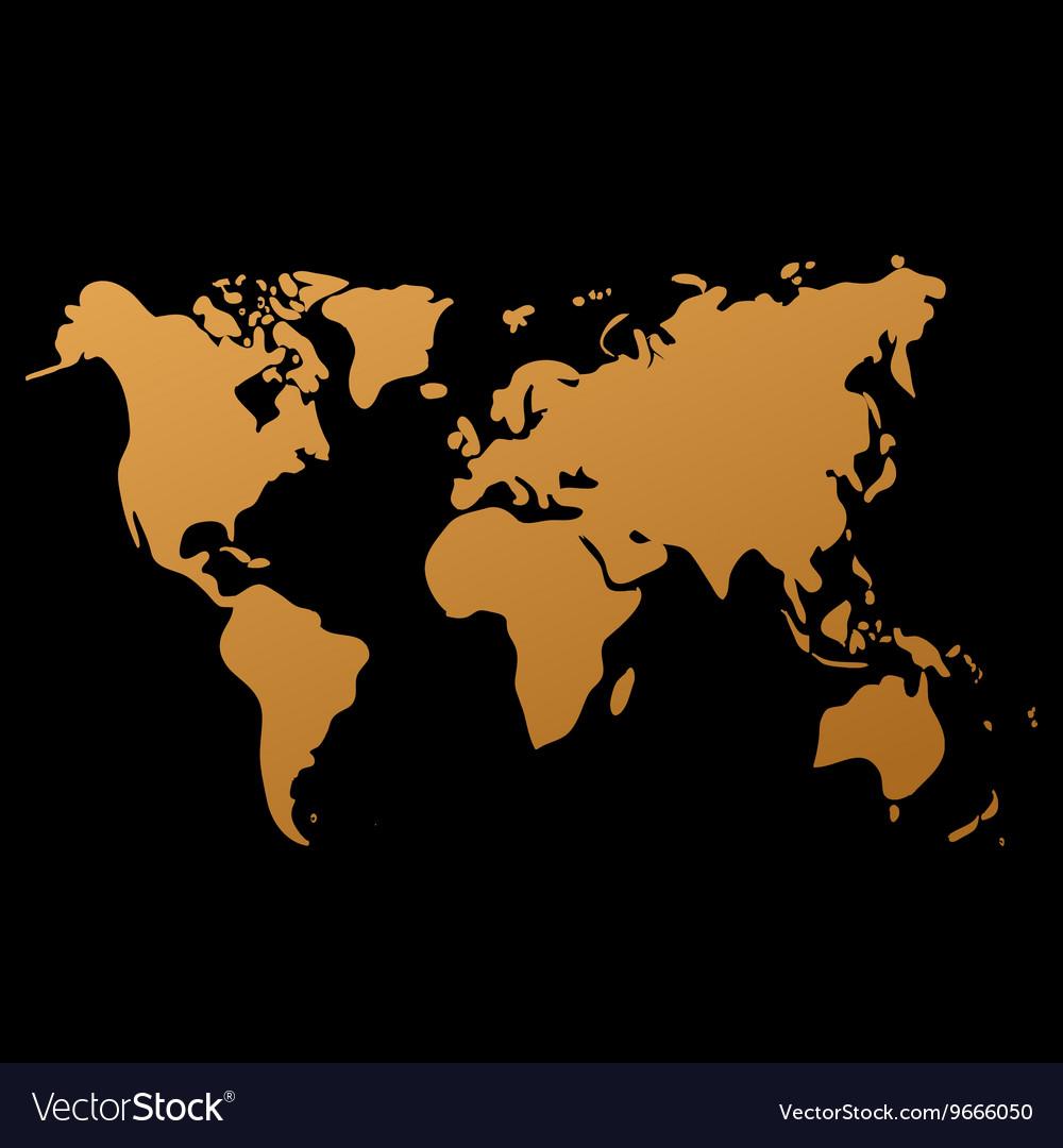 World map on black background doodle royalty free vector world map on black background doodle vector image gumiabroncs Images