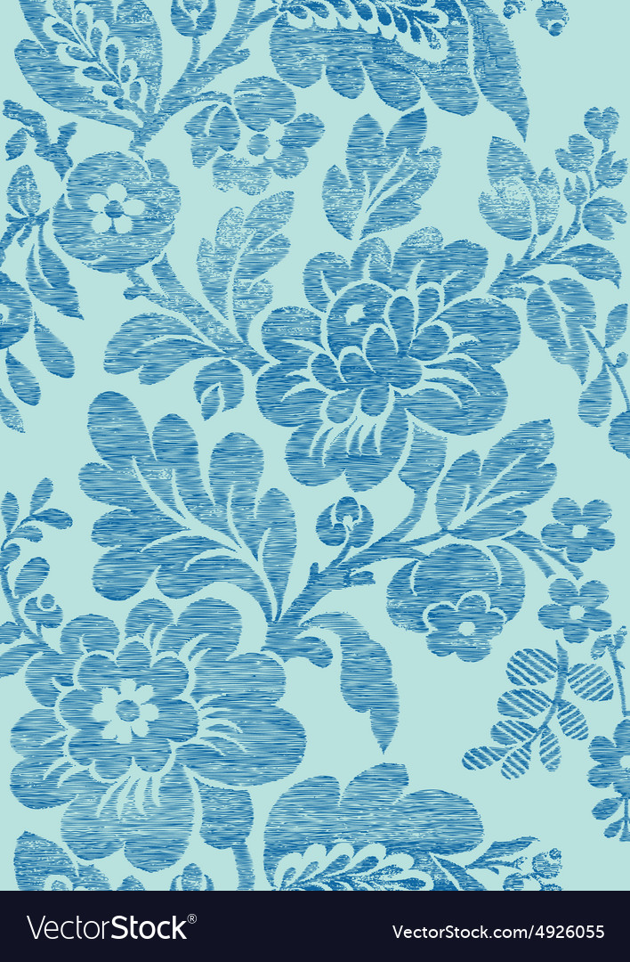 6 Abstract hand-drawn floral seamless pattern