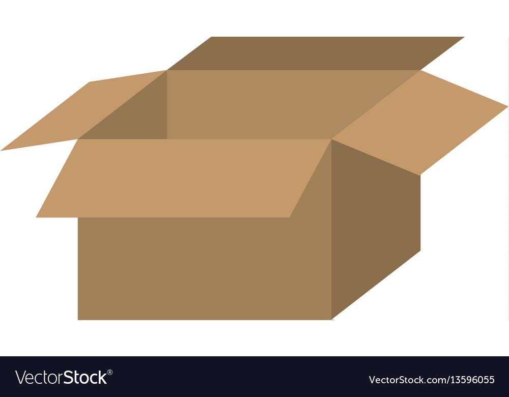Brown box open icon