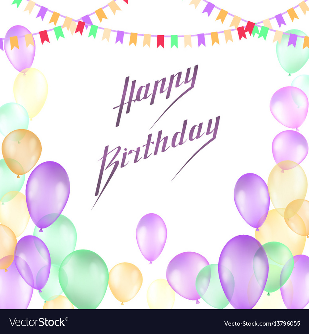 Happy birthday design for greeting cards