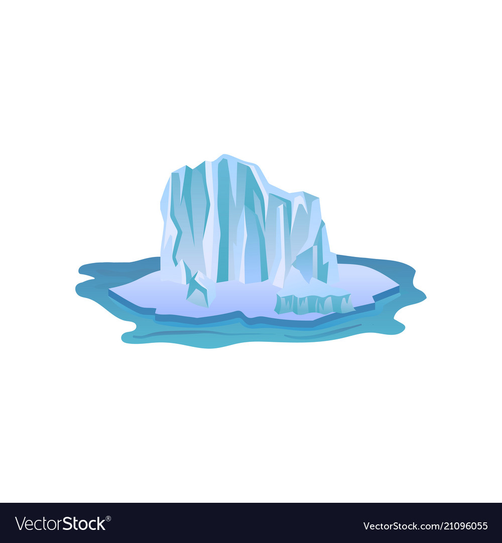 Large blue iceberg with lights and shadows big vector image