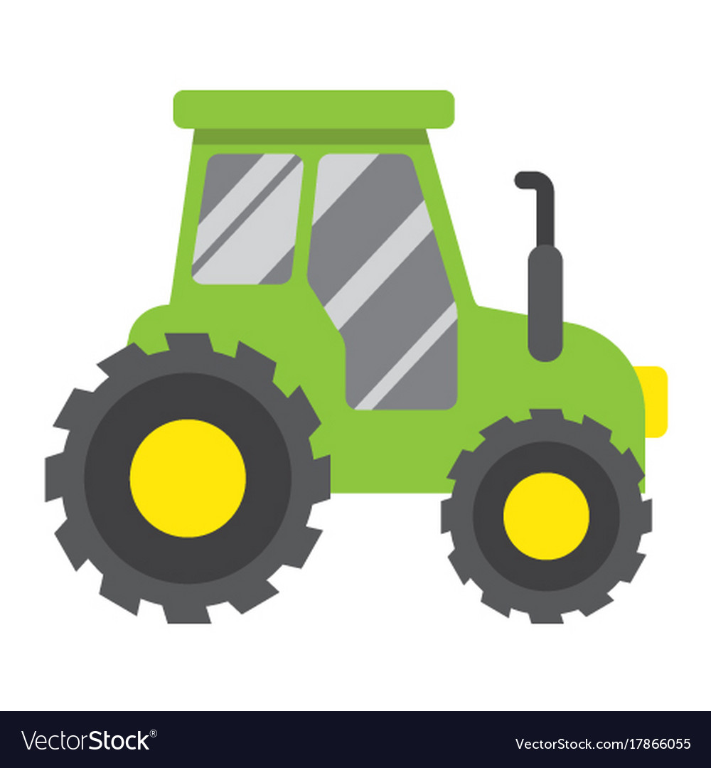 Tractor flat icon transport and vehicle