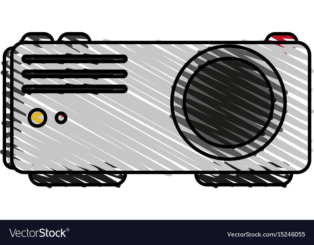 Video beam icon image vector image