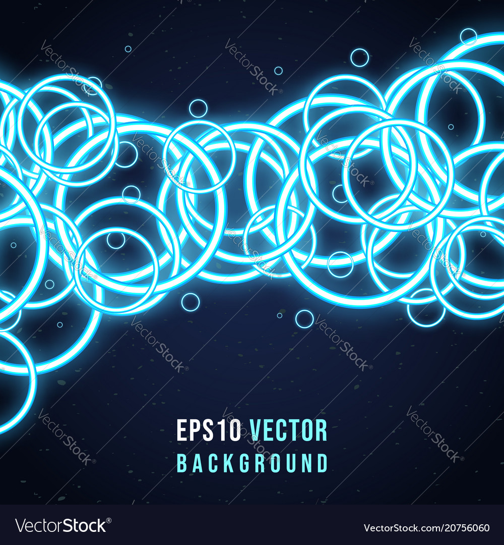 vector neon background circles rings free royalty image abstract glowing
