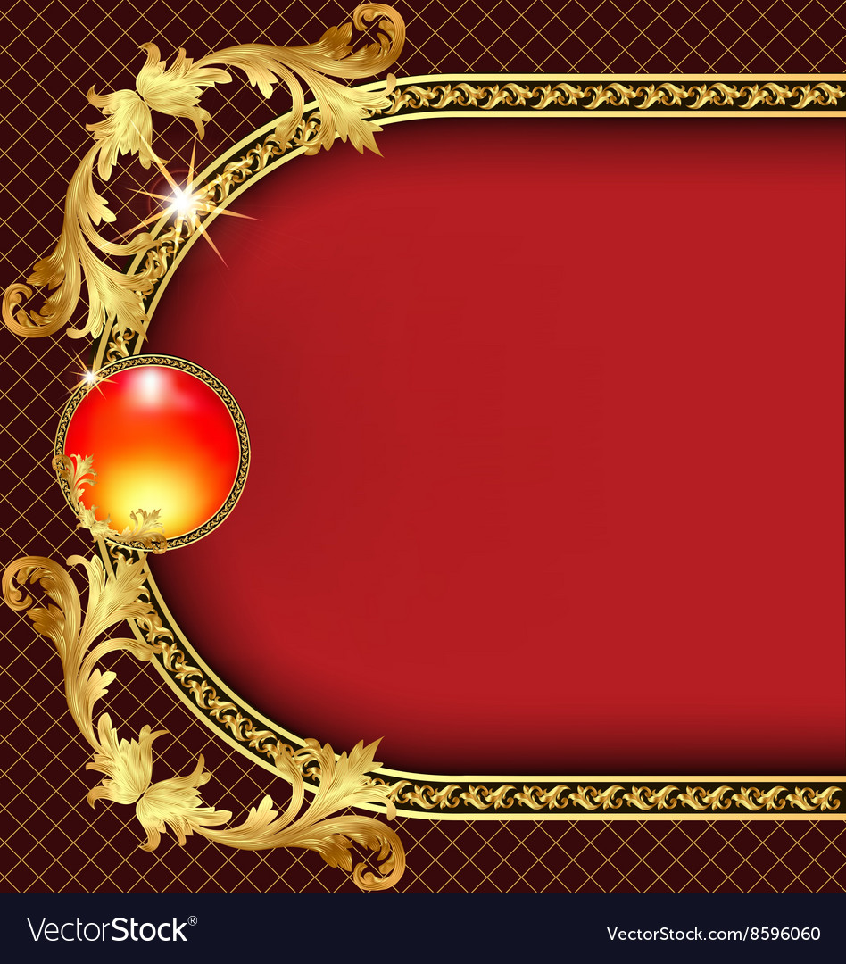 Background frame with golden pattern