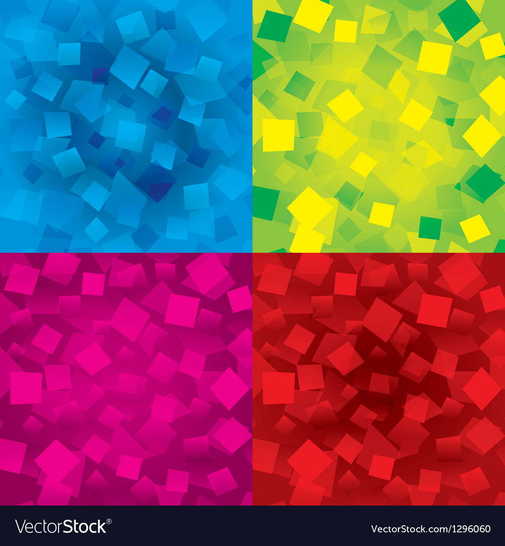 Colorful abstract backgrounds set with rectangles vector image