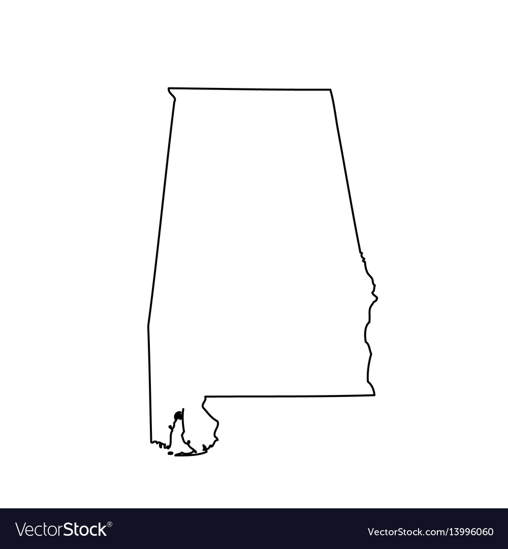Map of the us state alabama