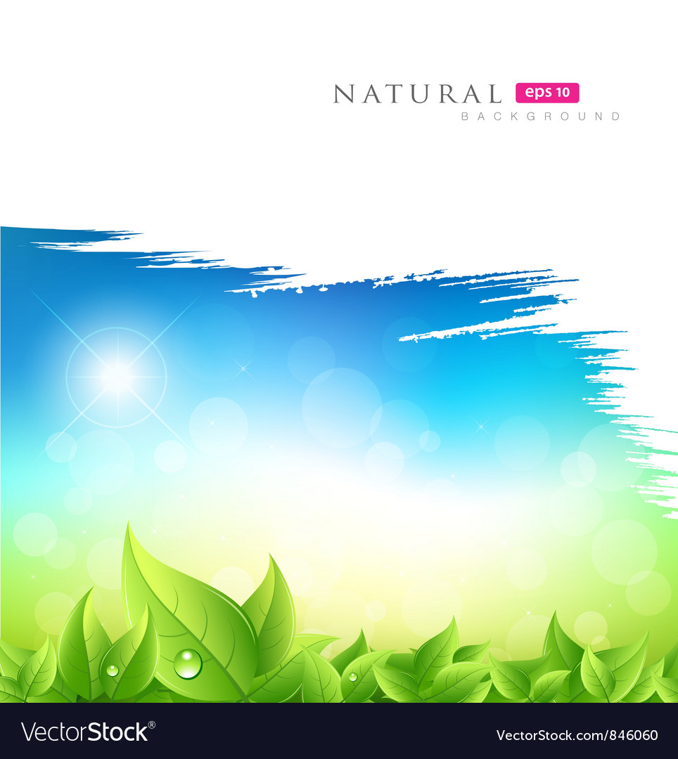 Painting brush green natural background