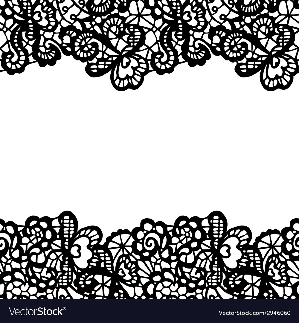 seamless lace border invitation card royalty free vector