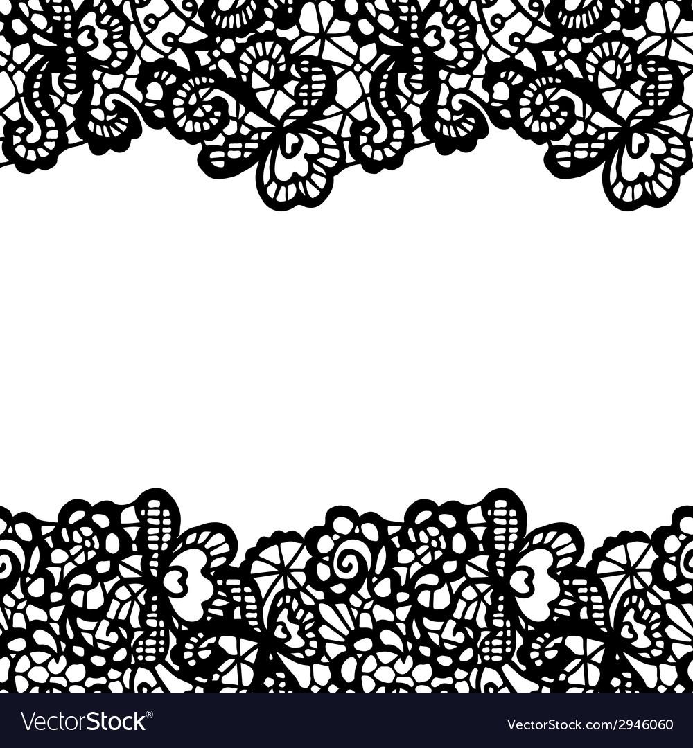 Seamless Lace Border Invitation Card