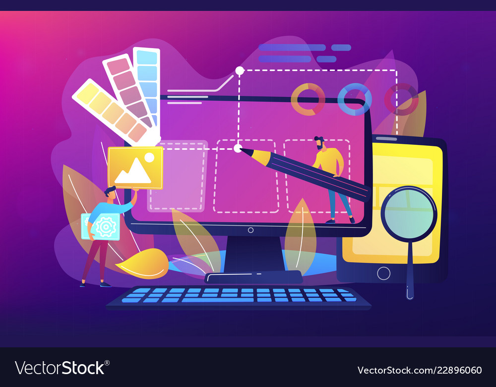 Web design development concept