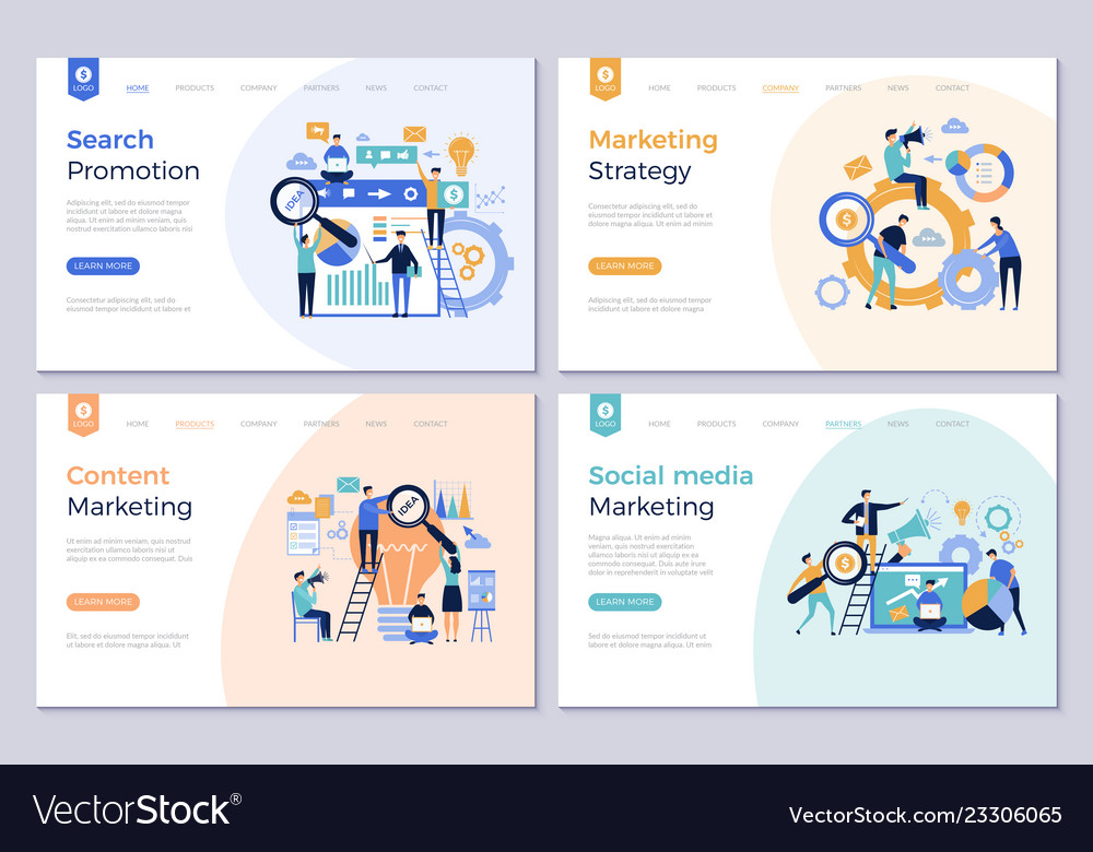 Business landing pages marketing website design