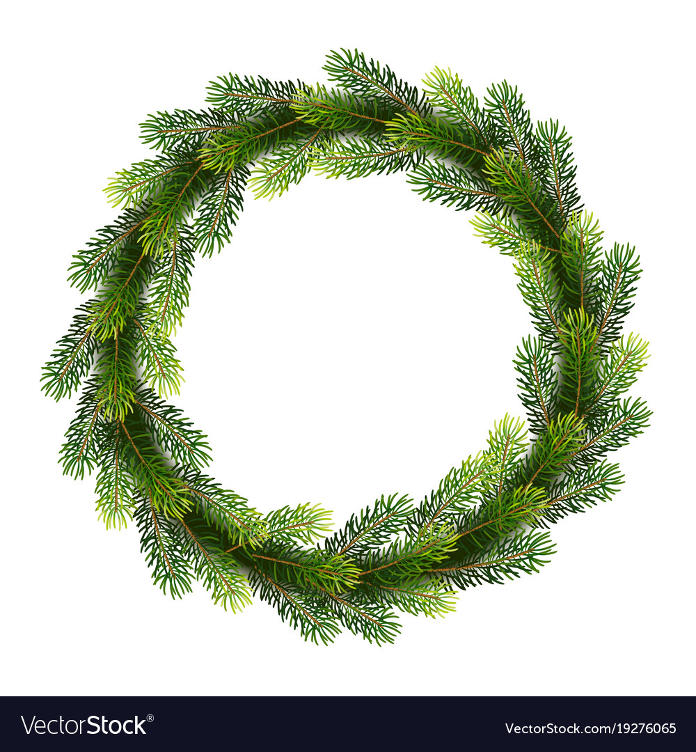 Christmas wreath from fir tree branches