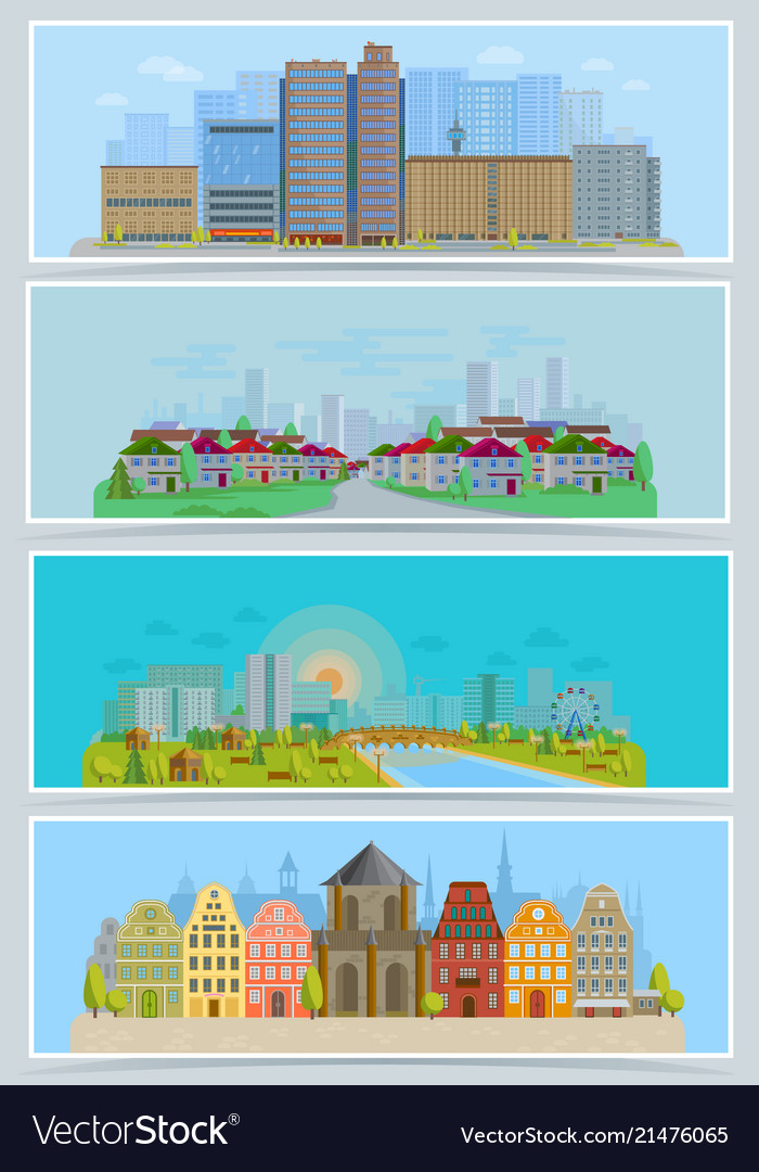 Cityscape urban city landscape with