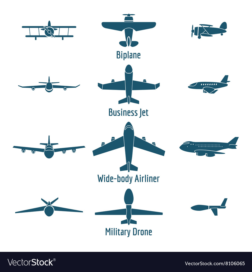 Different airplanes types