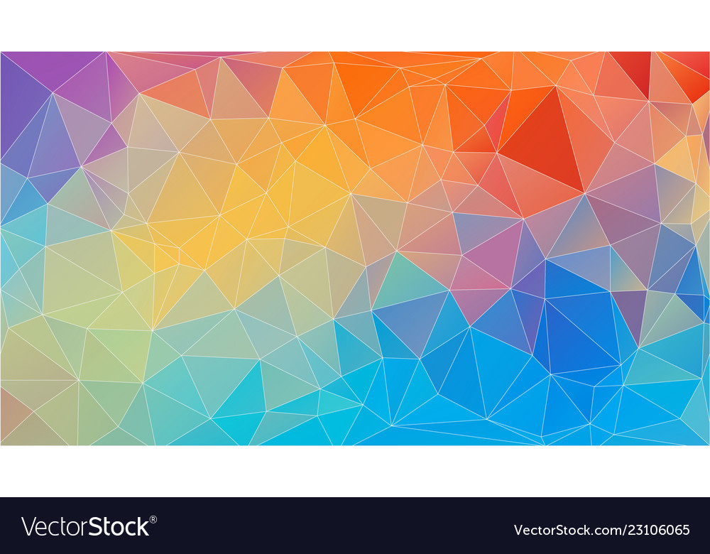 Flat Triangle Multicolor Geometric Wallpaper Vector Image