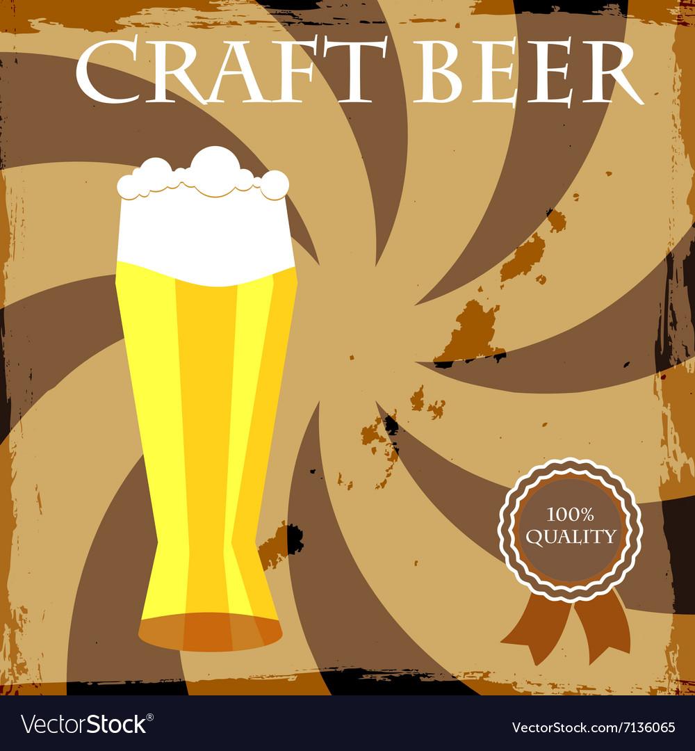Happy Hour Beer Bar Stamp vector image