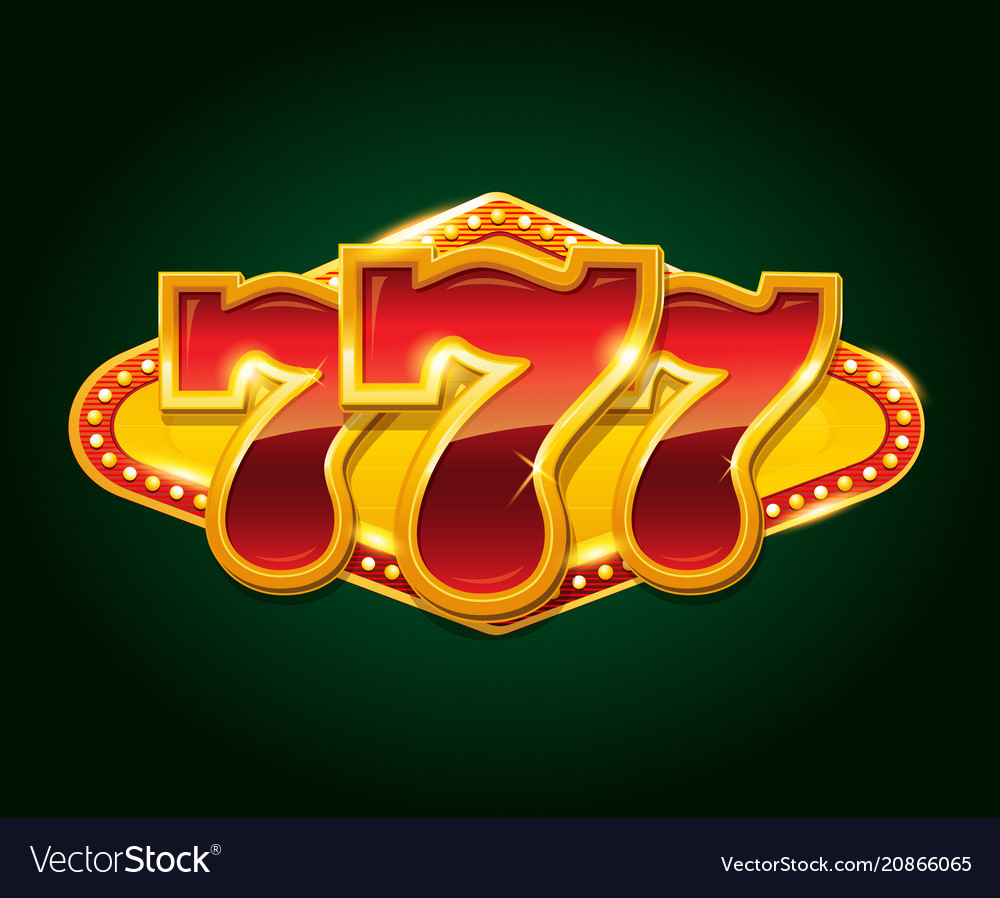 Set 777 gold casino jackpot sign