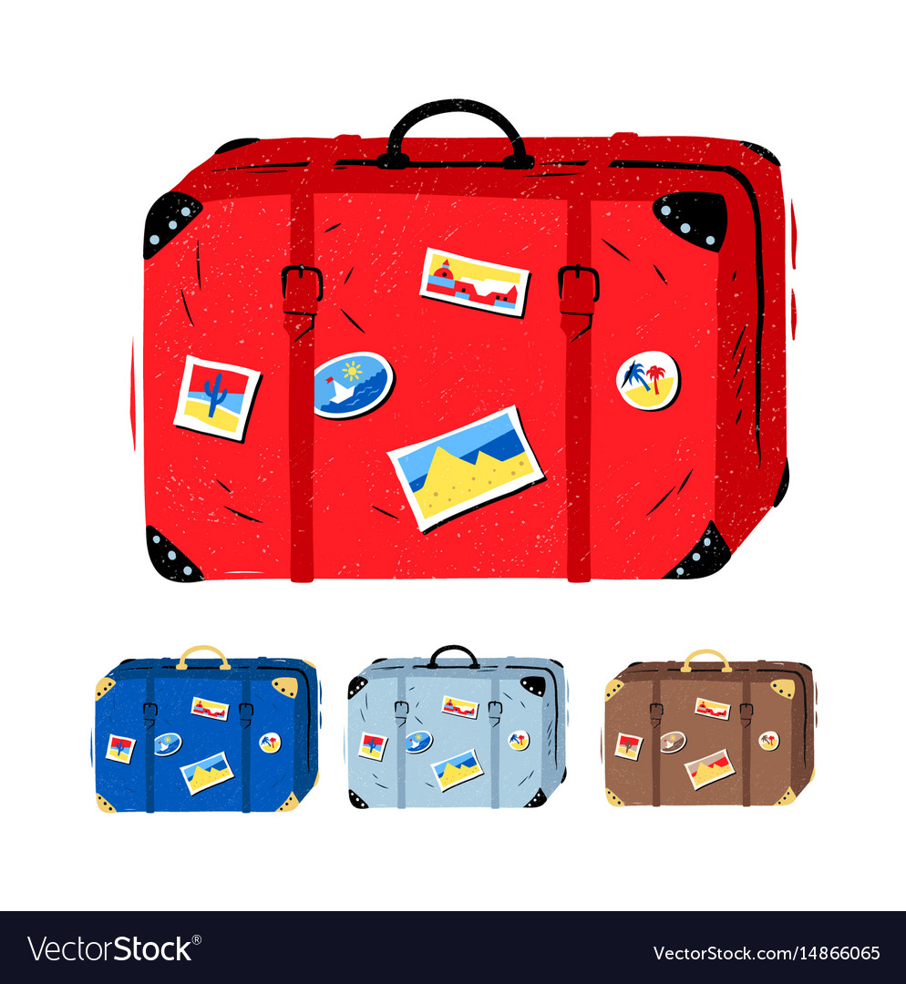 Set of travel suitcases