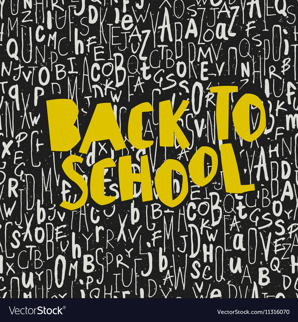 Back to school poster design with seamless letters