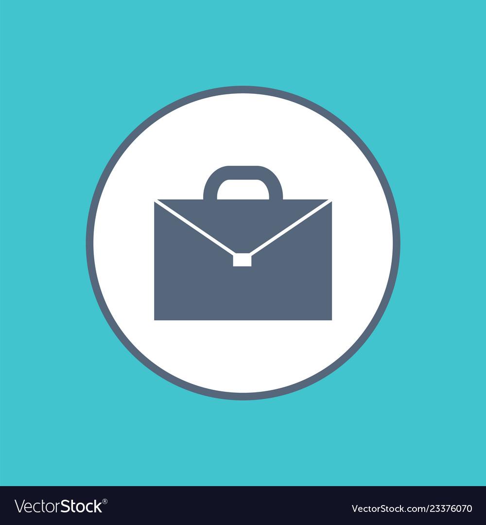 Briefcase icon icon in circle