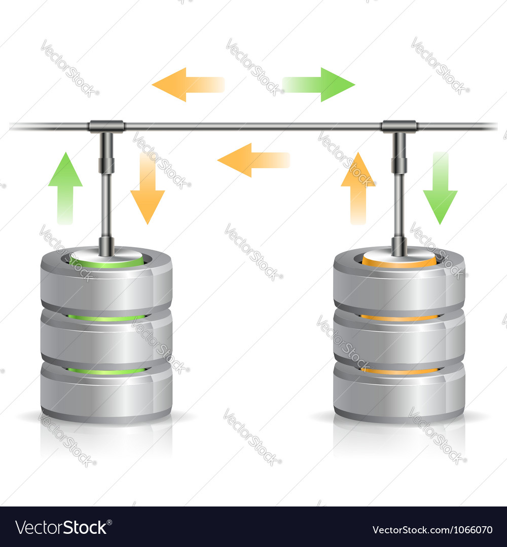Database Backup Concept vector image