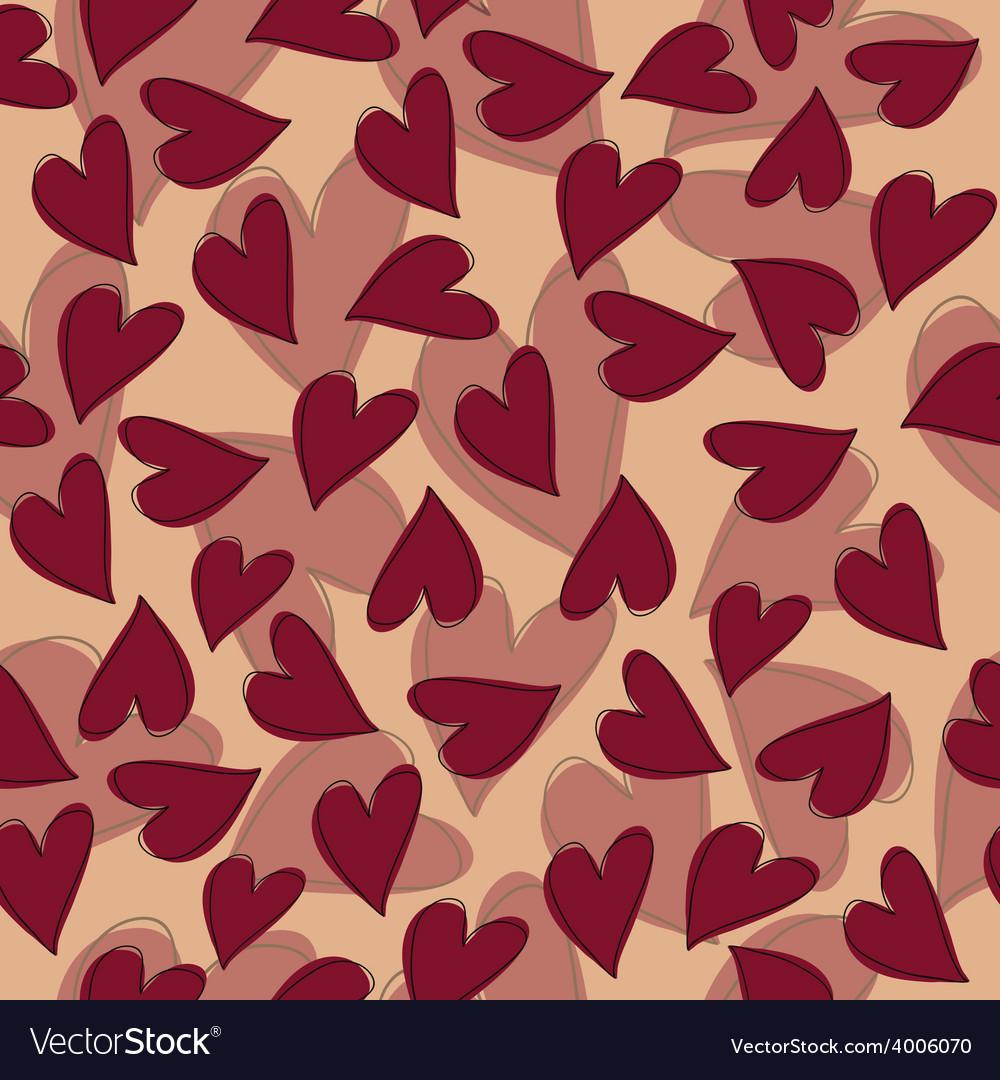 Marsala hearts pattern