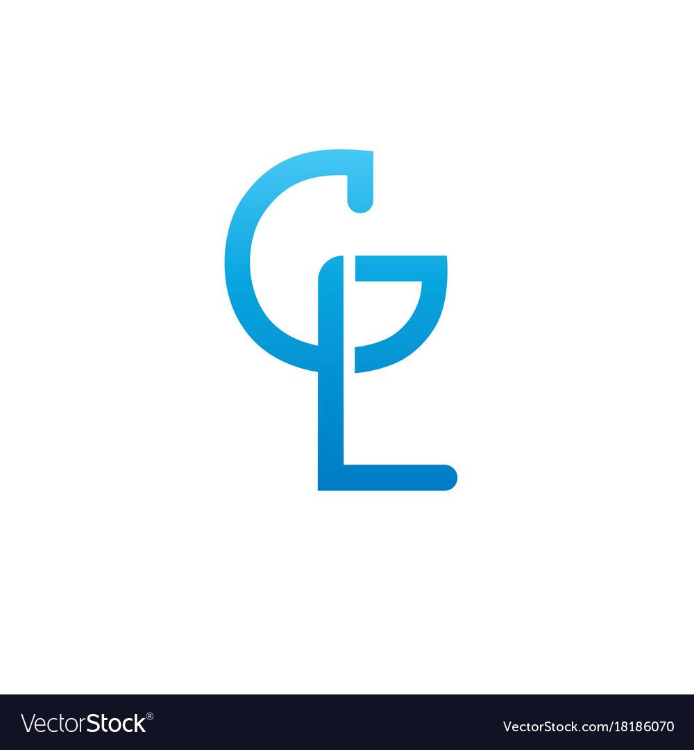 monogram letters g l logo design template vector image rh vectorstock com