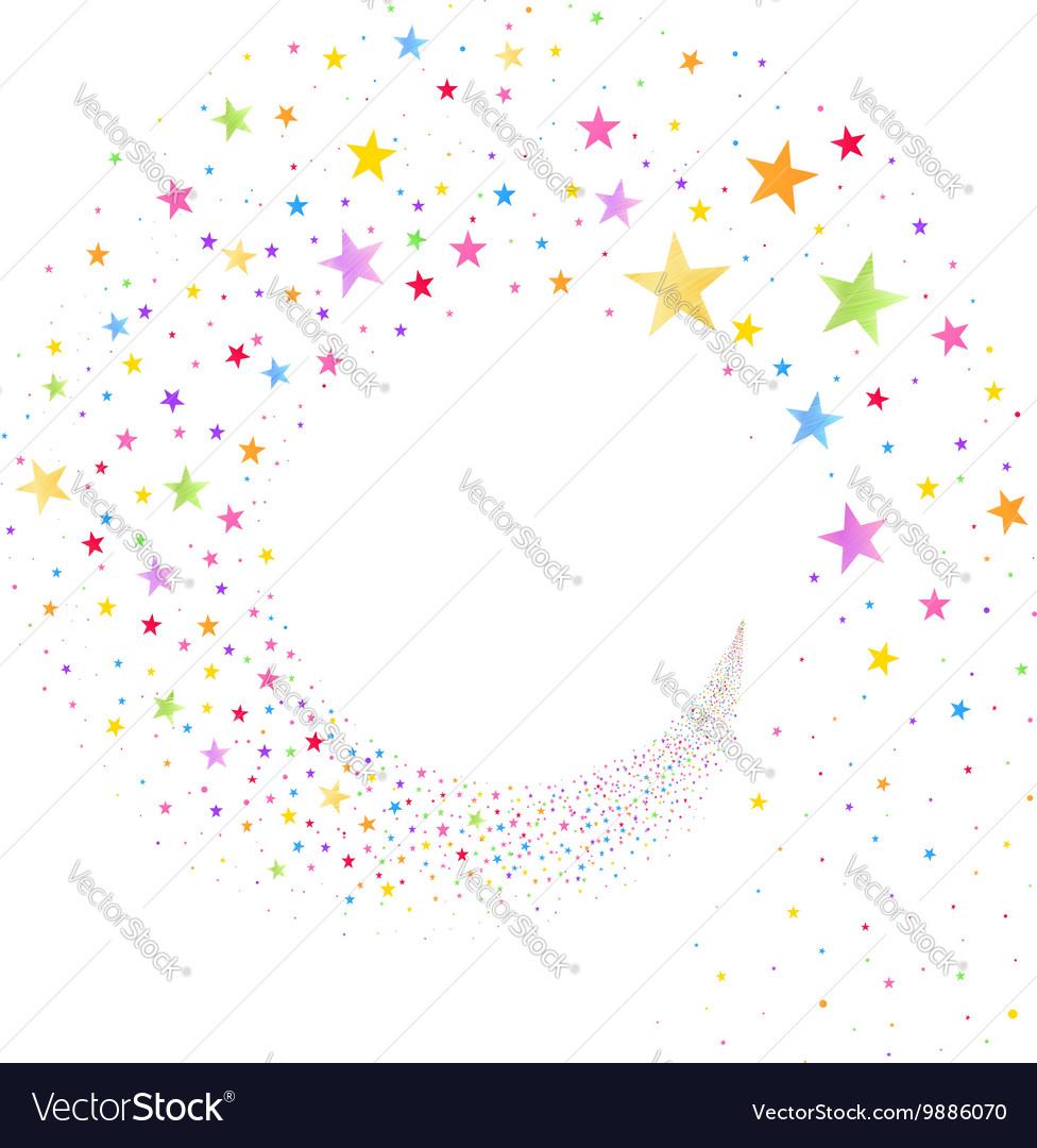 Stream of Multicolored Stars