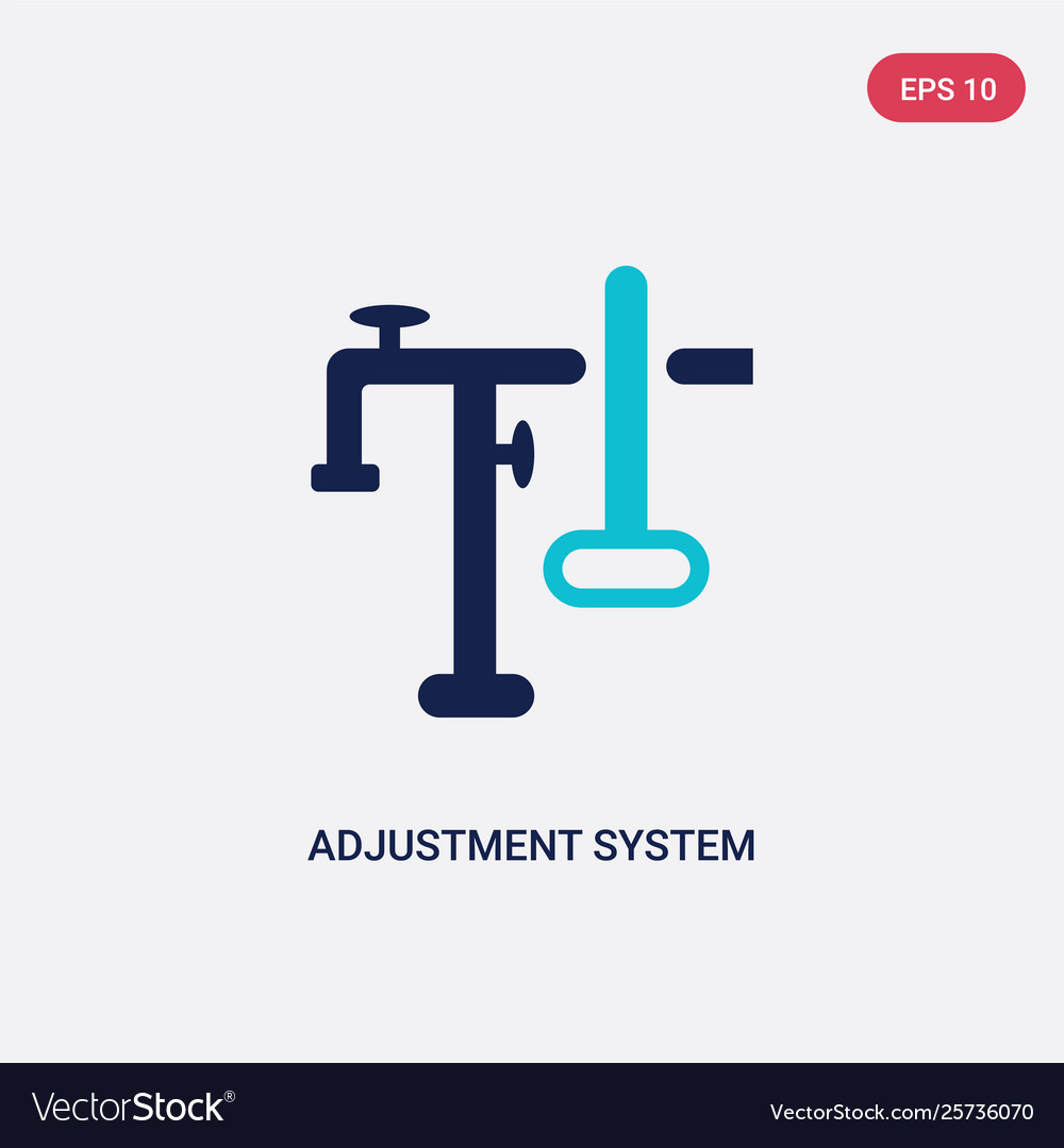 Two color adjustment system icon from