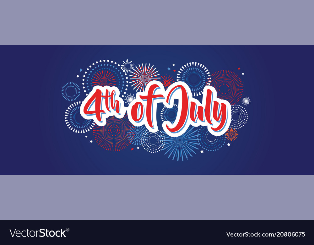 4th july fireworks background fourth