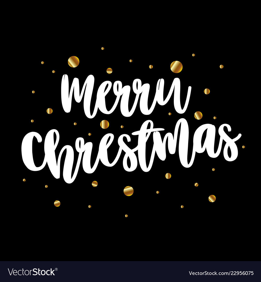Card with the inscription merry christmas on a