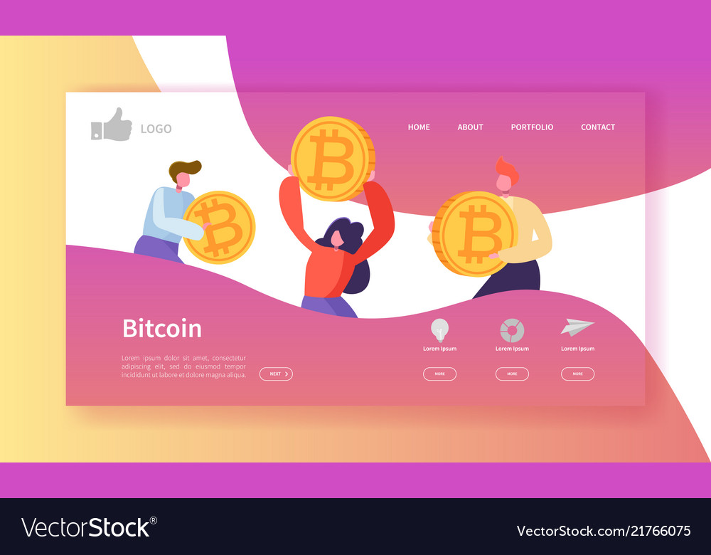 Crypto currency exchange landing page template