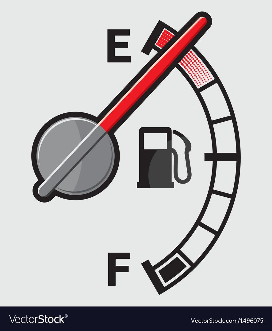 Empty gas tank indicator vector image