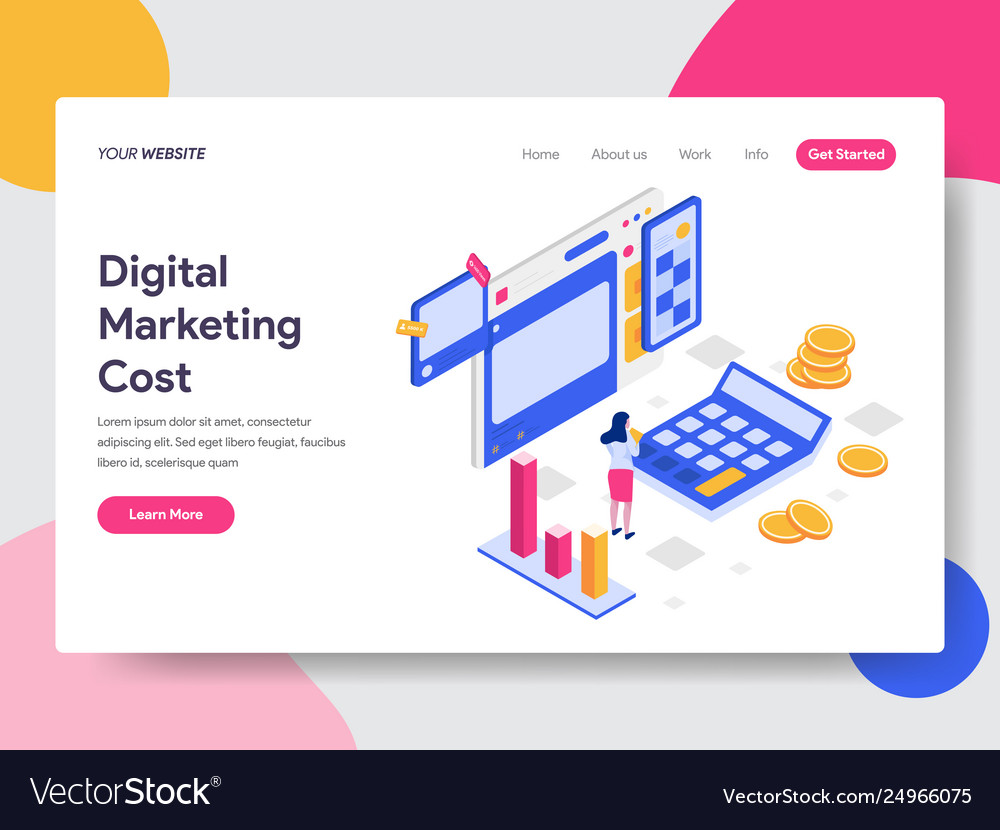 Landing page template digital marketing cost