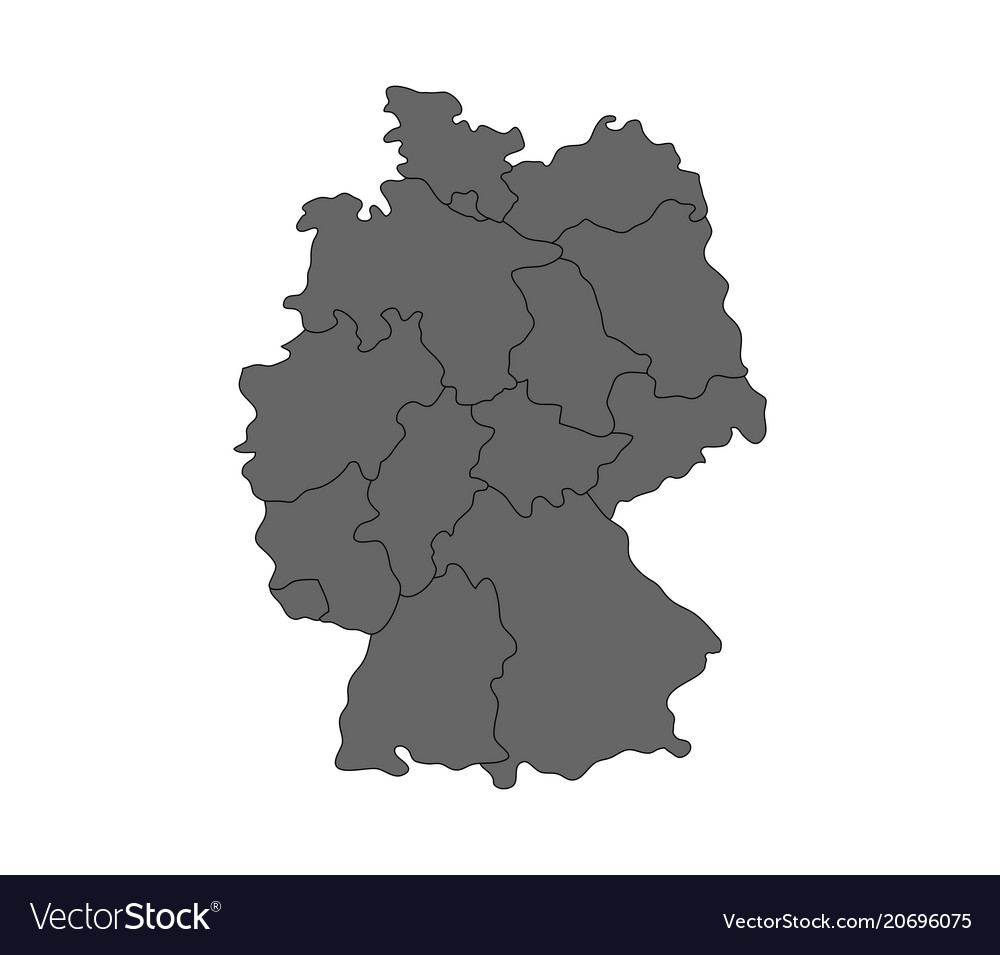Map germany with regions Royalty Free Vector Image