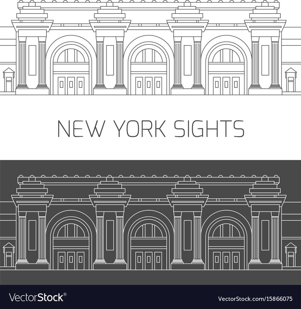 New york sights metropolitan museum of art vector image