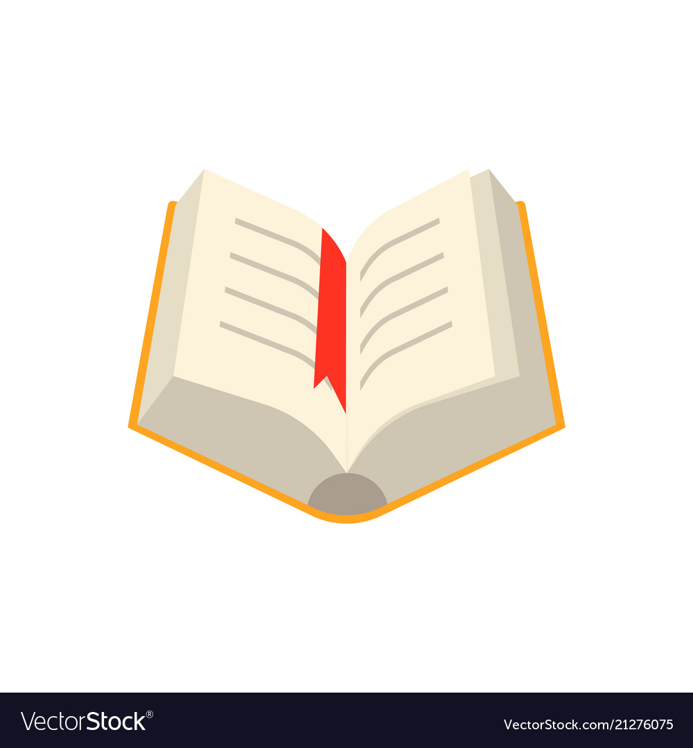 Open book with yellow hardcover and paper pages