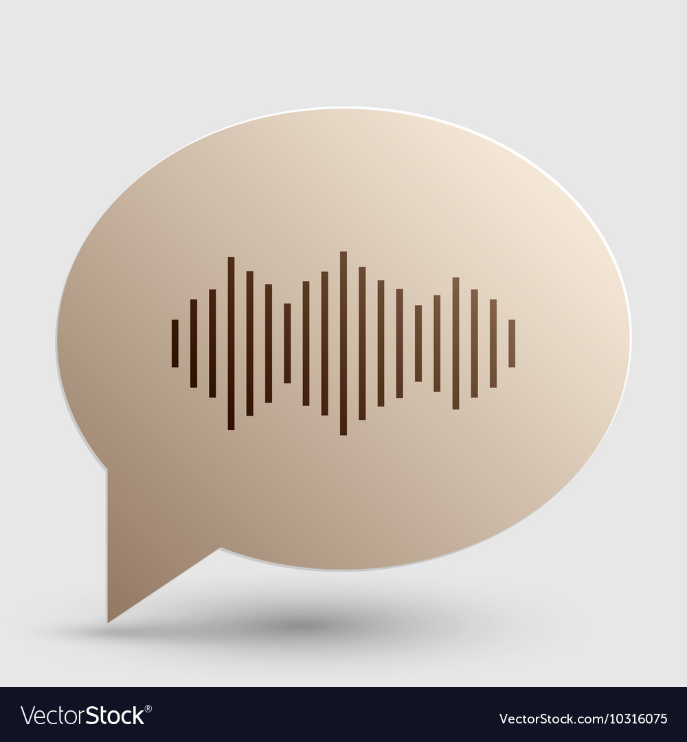 Sound waves icon Brown gradient icon on bubble vector image