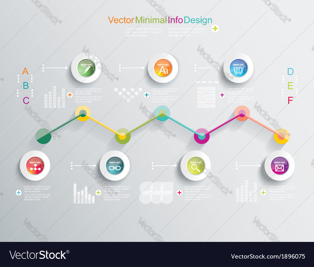 Time Line design template with diagram set