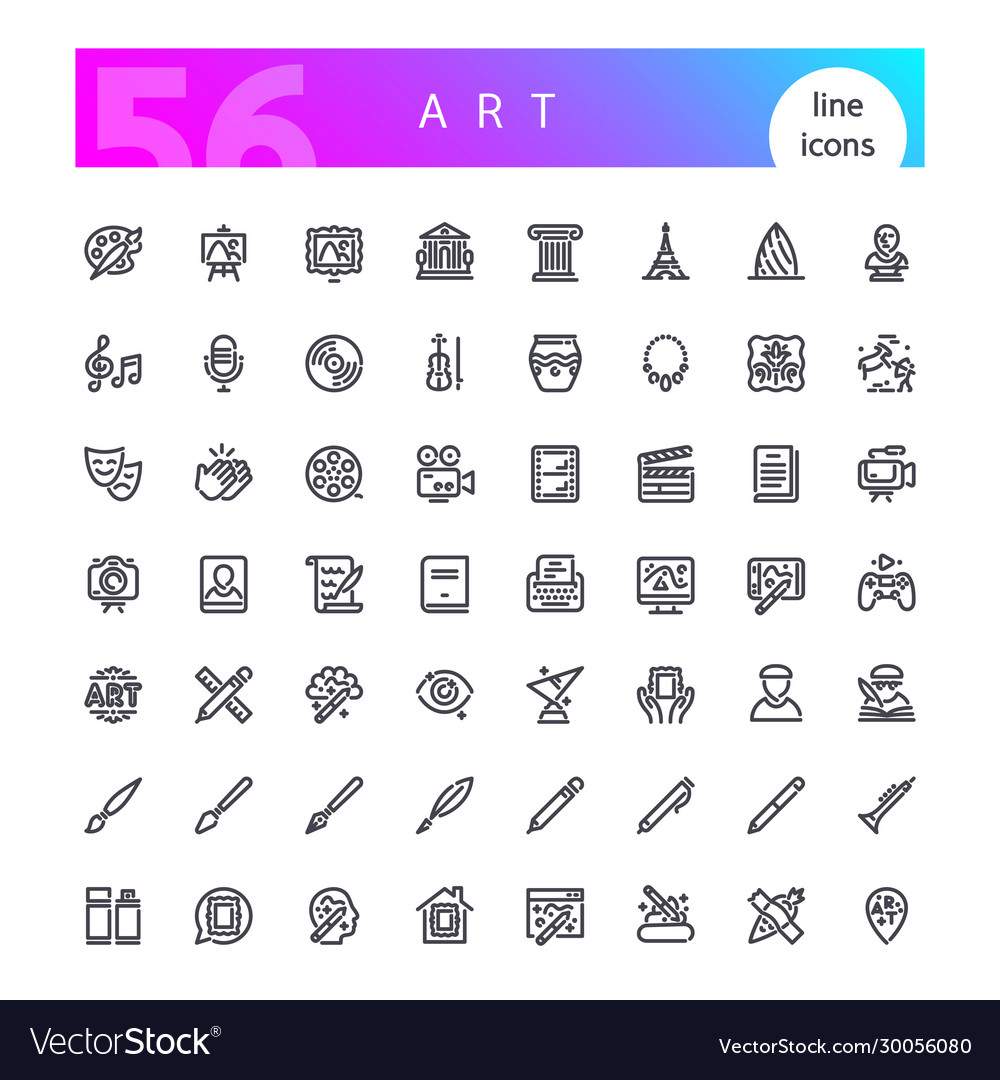 Art line icons set