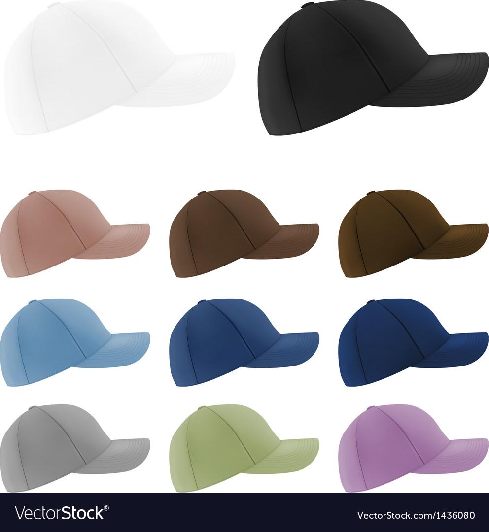 baseball hats template royalty free vector image