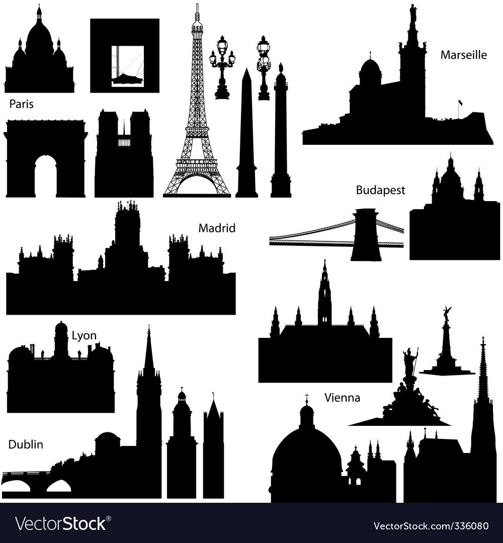 European monuments vector image