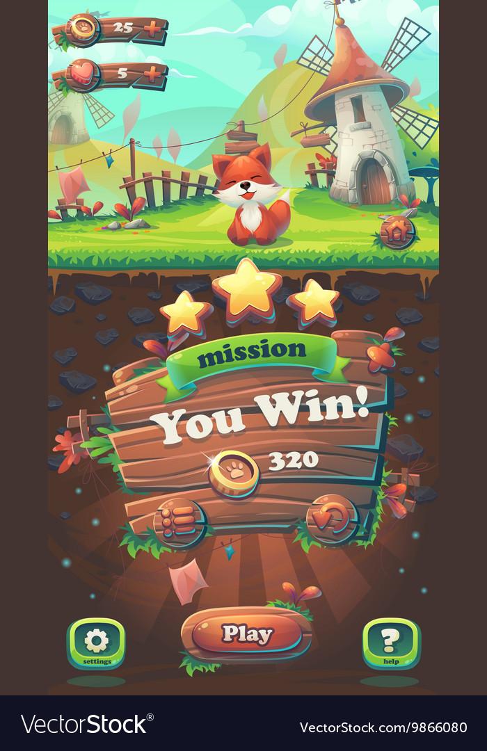 Feed the fox GUI you win mission window
