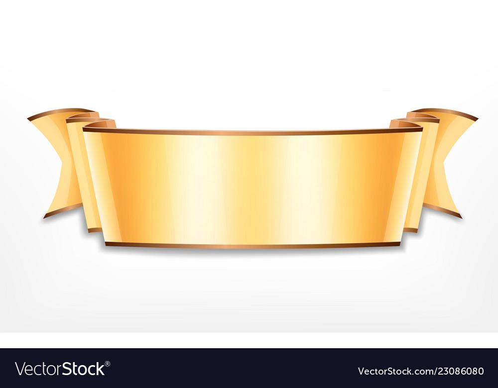 Golden ribbon icon