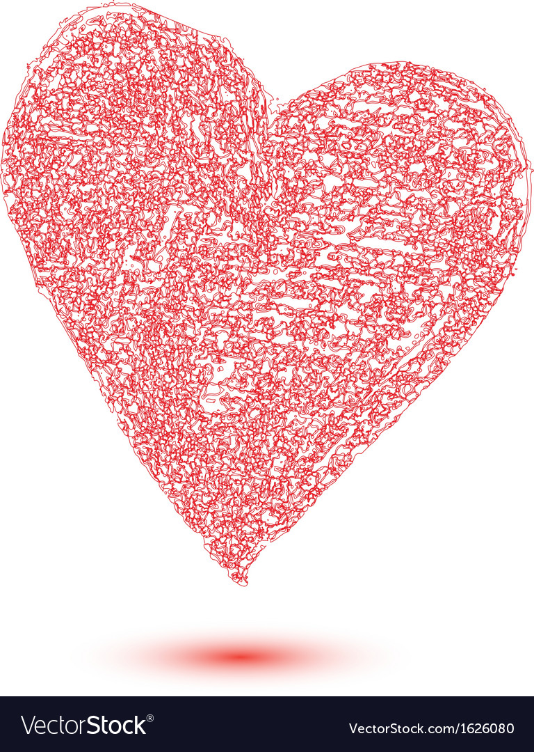 Heart Shape Design For Love Symbols Royalty Free Vector
