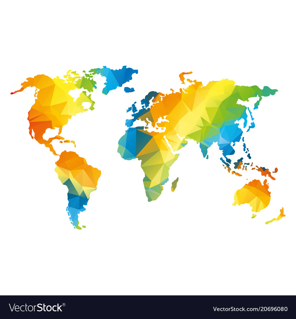Low poly global world map royalty free vector image low poly global world map vector image gumiabroncs Image collections