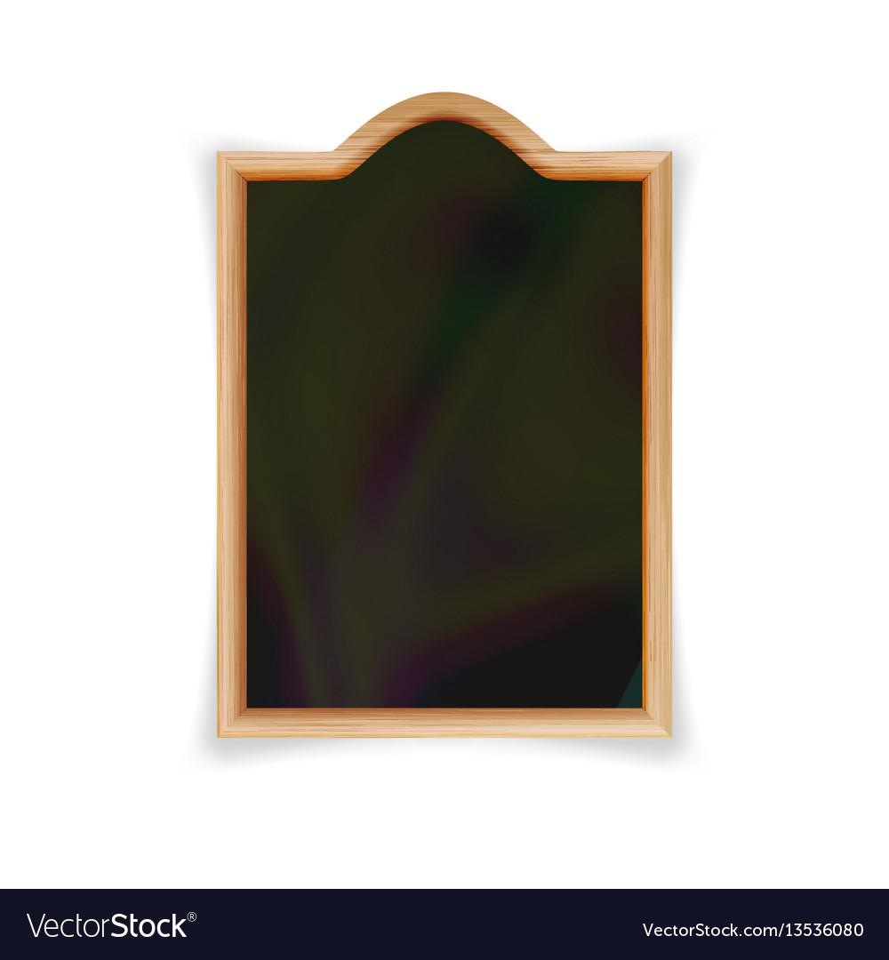 Menu black board space for cafe or