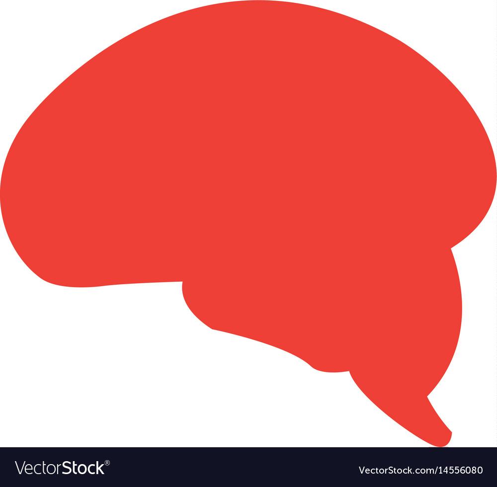 Pictogram brain human healthy memory mind vector image